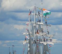 Tarangini Topmen (cruadinx) Tags: india color boat ship flags rhodeisland sail tallship coolest newportri narragansettbay tarangini flickrsbest anawesomeshot ultimateshot superbmasterpiece firsttheearth