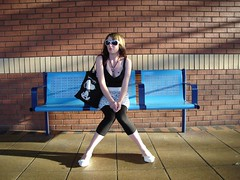 Waiting (Andy McGeechan) Tags: uk england people girl bench sitting interior coventry poolmeadowbusstation bigpicture2008