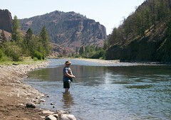 Me fishing in the N. Fork Shoshone River (Scott Butner) Tags: me flyfishing wyoming guestphoto westcamp