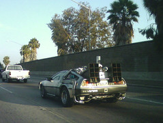 De Lorean (jasonEscapist) Tags: cameraphone car movie highway steel 101 freeway delorean prop backtothefuture mrfusion