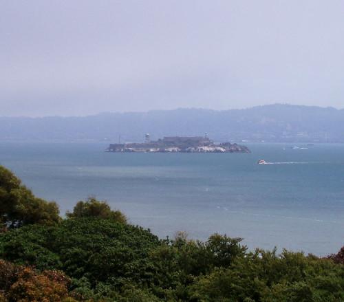 alcatraz näkyy golden gatelle
