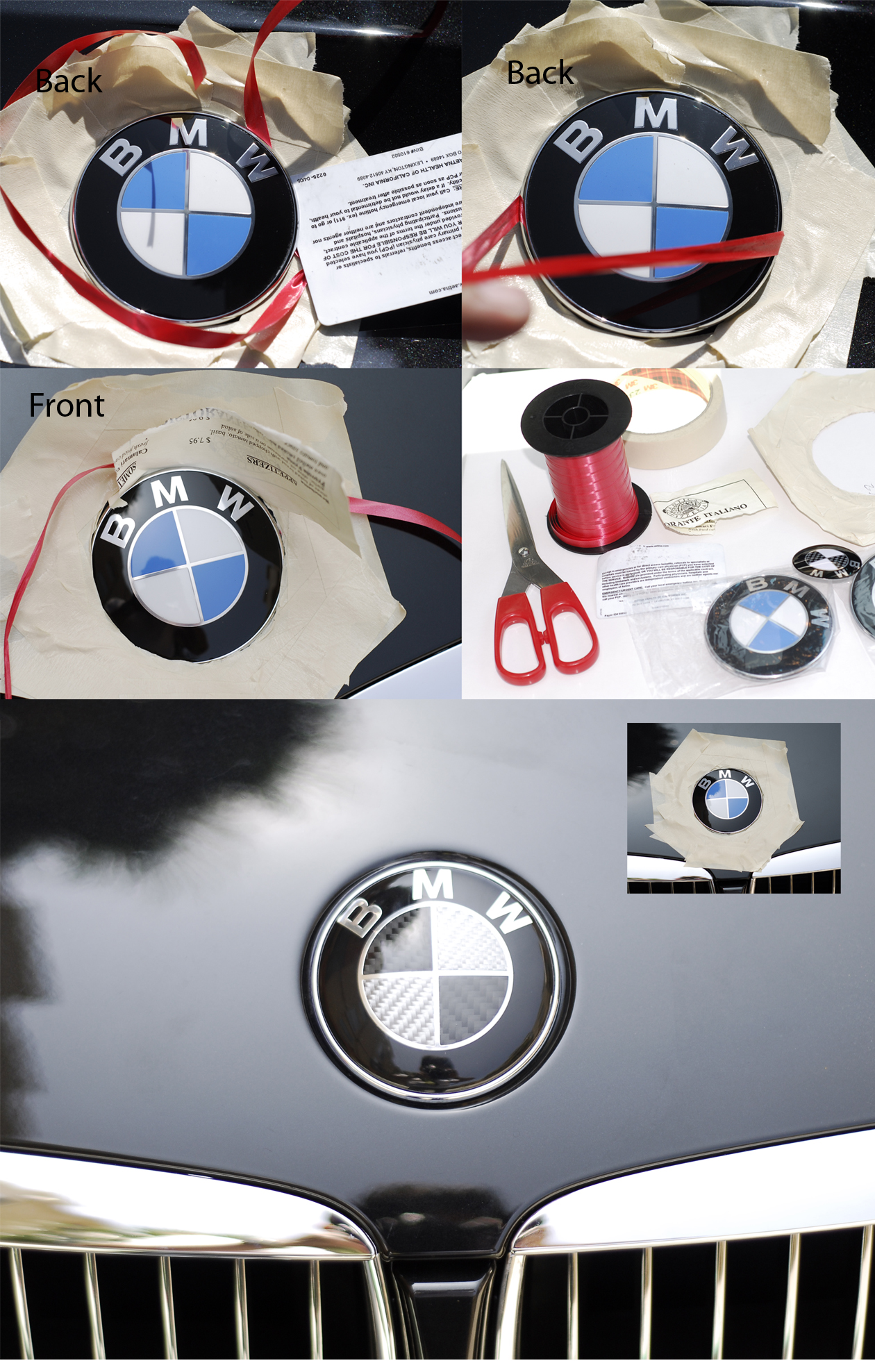 how to remove the trunk emblem off a 335i? - BMW 3-Series