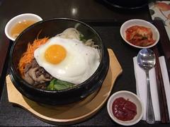 Bibimbap - Cafe Mi Hee (avlxyz) Tags: food casio korean kimchi hotpot exilim bibimbap banchan dolsot stonepot z850