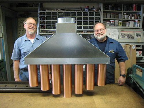 Our copper pipes kitchen range hood done and delivered!
