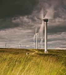 There's Always One (Vintage Red) Tags: wind windturbine windfarm blueribbonwinner flickrsbest diamondclassphotographer