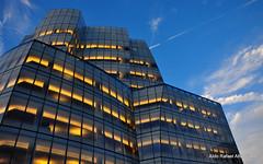 Modern times (Rafakoy) Tags: city nyc windows shadow sky cloud abstract building window lines architecture modern clouds digital concrete chelsea shadows angle manhattan perspective line pointofview forms form meatpackingdistrict nikond90 afsnikkor18105mmvr aldorafaelaltamirano rafaelaltamirano aldoraltamirano