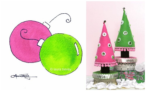 Pink and Green Holiday