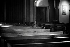 meditating in a church (Fabio McCaree) Tags: church nikon pray iglesia f100 chiesa meditation preghiera maku meditazione afnikkor85mmf14dif drmaku