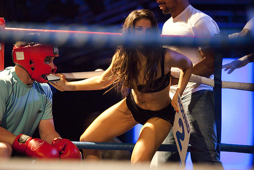 Boxing ring girl
