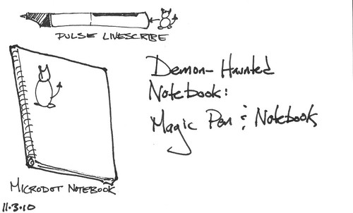 Demon-Haunted Notebook: Magic Pen & Notebook