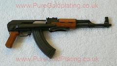 AK-47 Assault Rifle a (PureGoldPlating) Tags: goldplated ak47 goldplating assaultrifle goldplatedgun goldplatedak