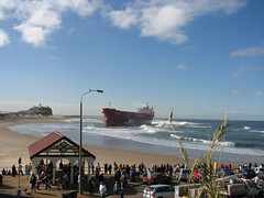 Pasha Bulker (leeshpix) Tags: newcastle flood nobbysbeach beachedship pashabulker