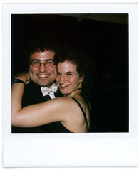 orli and morgan (flybutter) Tags: nyc film polaroid financialdistrict wintergarden benefit morgan slr680 afterparty orli bflat 779 flybutter miracleatgroundzero sohosynagogue beyondblacktie