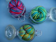 fruits of the season. ({ philistine made }) Tags: love water sweet knit handpainted tonic preserves vesper stinks knitterlythings fiberlicious
