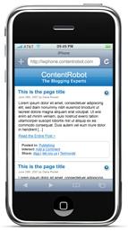 iPhone Theme and plugin for WordPress