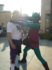 Tony being strangled by the Green Goblin