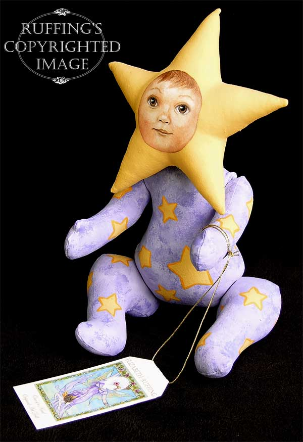 Leah the Star Baby, Original One-of-a-kind Folk Art Fairy Doll by Elizabeth Ruffing