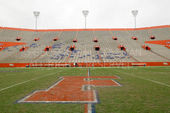The Swamp, Gainesville, FL, University of Florida (g311) Tags: blue orange usa green field grass horizontal campus football quiet unitedstates florida stadium geoff empty famous stock universityofflorida gainesville gators peaceful calm repetition strong fl coleman anticipation geoffrey seating champions rf stands floridafield royaltyfree theswamp benhillgriffinstadium 50yardline