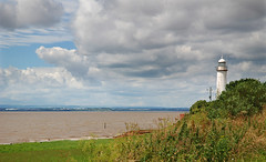 the river (Maddie Digital) Tags: sky lighthouse water clouds river hale mersey rivermersey