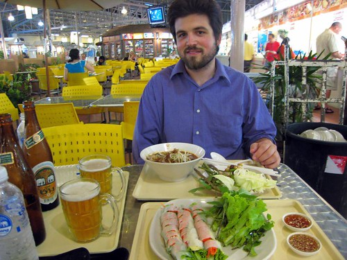 Dinner at the market food court