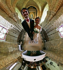 Married! (Man) Tags: alexis famille wedding panorama france church sophie interestingness1 360 full explore handheld normandie mariage 360x180 spherical planetoid hugin enblend i500 littleplanet manuperez planetoids mannevillelaraoult