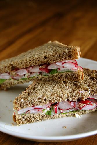 Radish & Mint Sandwich