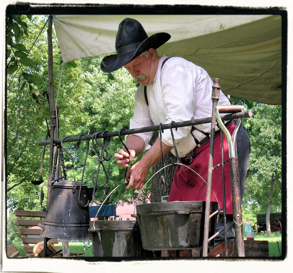 Chuck Wagon Cook-off Contestant
