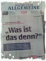 WAZ-Kampagne: Mitreden! WAZ lesen.