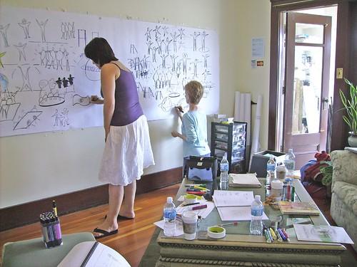 Christina Merkley, training in my studio