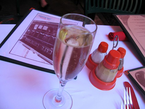 Champagne at Cafe Bastille