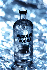 ABSOLUT VODKA (mehdi dady) Tags: life blue sky fun bottle nikon soft dof shot you drink russia joy bluesky best cheers vodka absolut d200 he steal ceative anawesomeshot colorphotoaward aplusphoto swedishvodka