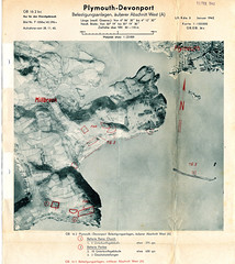 Millbrook and Rame : Jan 1942 (Plymouth Libraries) Tags: cornwall map aircraft nazi plymouth aerial devon photograph german target bomb blitz bombing reich devonport secondworldwar stonehouse luftwaffe plymstock saltash torpoint