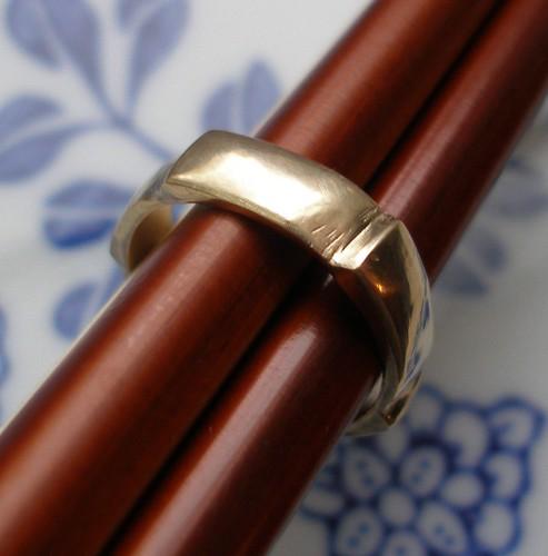 Water Wheel - 10k Yellow Gold Ring