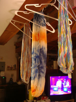 hanging skeins