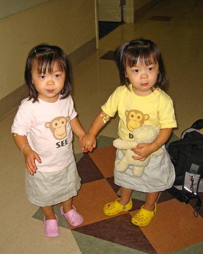 Brave little girls at the hospital