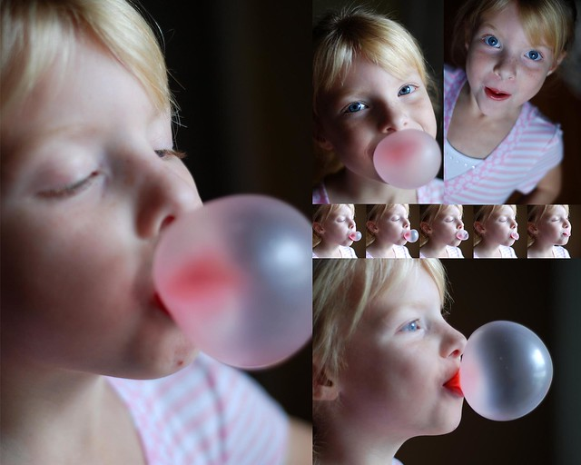The bubble shot in the making...