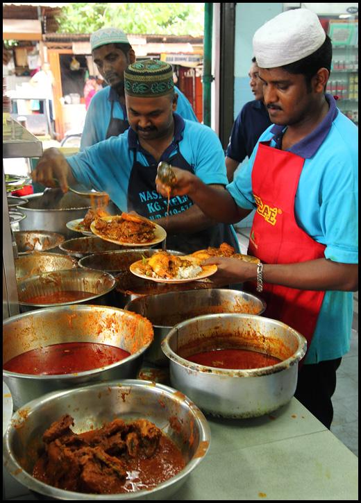Nasi-Kandar-dishes