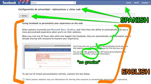 """facebook's new privacy feature """"instant personalization"""" is NOT ..."""