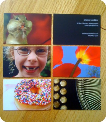 Full-size Moo cards