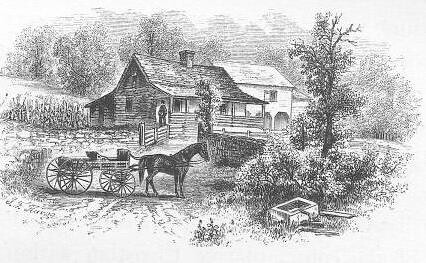 Springside in 1851 (Lossing)