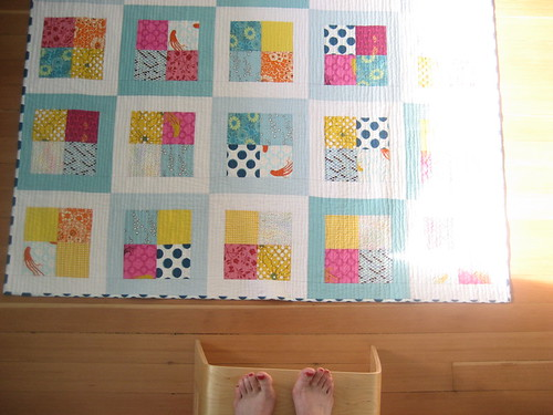 feet and quilt again
