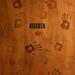 Camp House kitchen door with hand prints