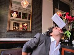 Carlo Jowers balances an Aidpod on his nose