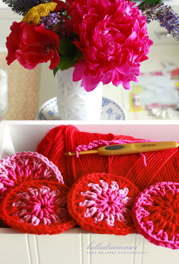 crochet circle love