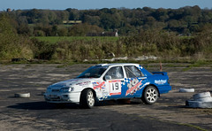 DSC_3221 (Alastair Cummins) Tags: cars ford car stage rally stages subaru prima mitsubishi peugeot sme airfield 2010 rallying smeatharpe