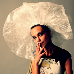 lady with hat (monyart) Tags: friends light shadow portrait woman white cute colors girl beautiful hat amsterdam contrast fun eyes hand cigarette smoking daniela girlpower lovely monyart flameworkbackstage