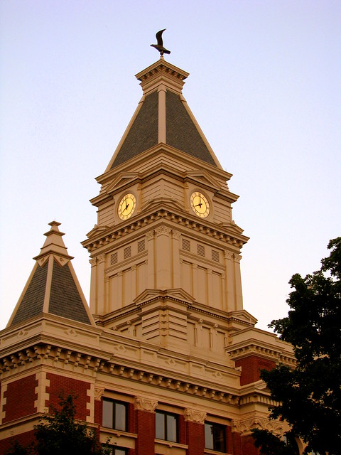 Montgomery Co. Courthouse at Dusk