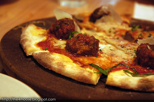 District 10 Bistro Wine Bar - Wagyu Italian Meat Ball Pizza