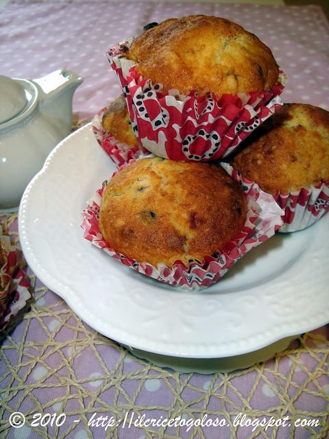Muffins gluten free alla banana e gocce di cioccolato
