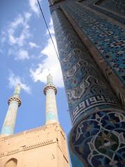 Day 3: Yazd - Jameh Mosque (birdfarm) Tags: iran mosque tiles ایران yazd tilework یزد fridaymosque jamemosque jamehmosque مسجدجامع مسجدجامعیزد persiantiles